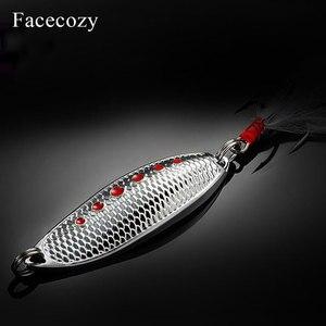Image 5 - Facecozy Metal biyonik sülükler yüksek yansıtma Swimbait nokta balık terazi tasarım 1 adet püskül kuyruk balıkçılık Lures yapay yem