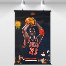 c2eceb60a10 NBA championship Jordan Basketball Poster Wall paintings Wall Sticker  Banners Hanging Waterproof Cloth Art Decor 40X60 CM