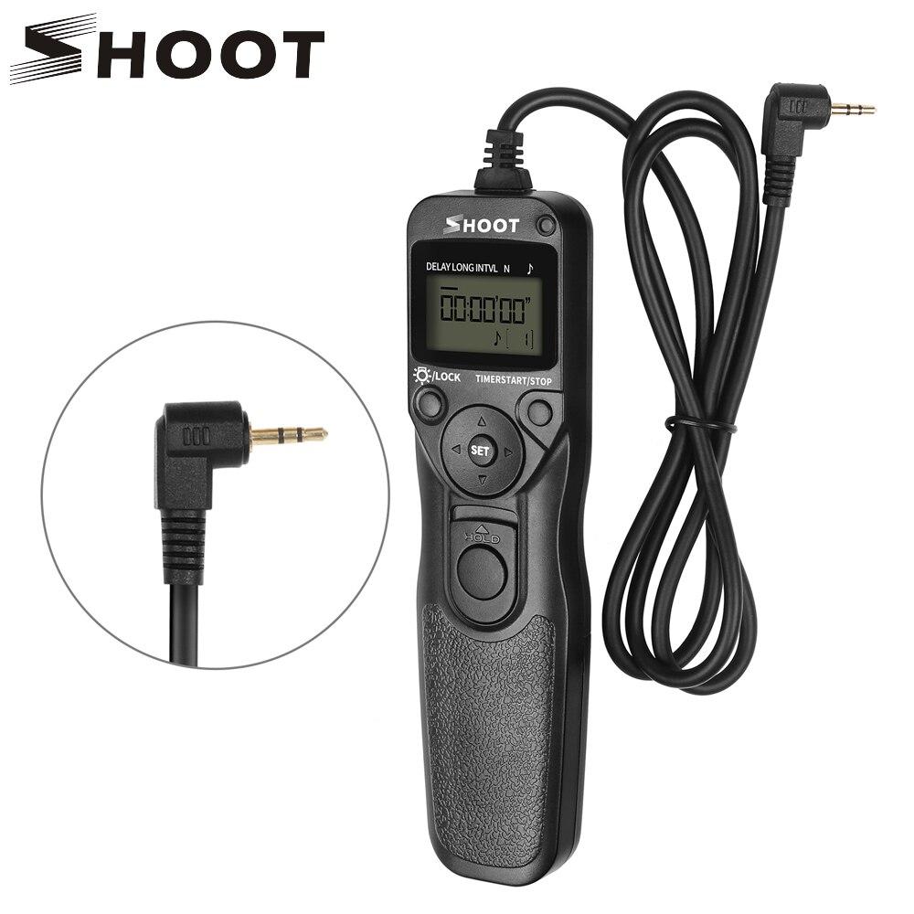 Disparar RS-60E3 Cámara LCD temporizador disparador de Control remoto para Canon 1300D 1100D 1200D 500D 550D 450D ELAN 7 ELAN 7N ELAN II