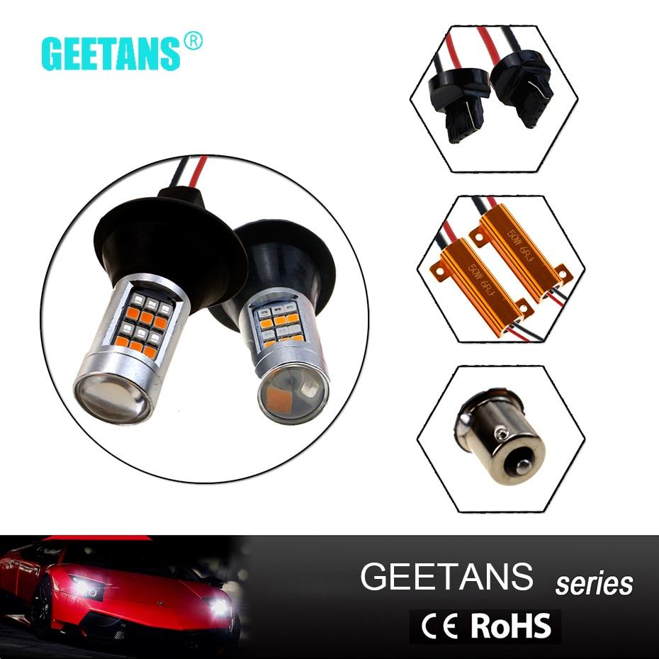 цена на 2pcs/lot T20 7440 7443 S25 Bau15s 1156 42 LED Light Switch Back LED Turn Signal Lights DRL Bulbs AE