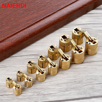 NAIERDI Brass Furniture Hinges 8-18mm Hidden Cabinet Copper Invisible Door Hinge Concealed Barrel Hinge For Gift Box Hardware electricity cabinet bronze tone metal concealed hinge is generally used as fixing hinge