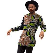 bad2e2ef3f8 Африканская мода печати Мужская Анкара рубашка изготовление под заказ  Человек Африка одежда традиционный дизайн Дашики Топы