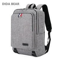 DIDA BEAR 2018 Men Canvas Backpacks Large School Backpack For Travel Teenagers Girls Boys Unisex Women