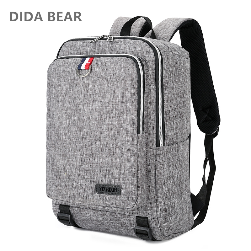 DIDA BEAR 2018 Men Canvas Backpacks Large School Backpack for Travel Teenagers Girls Boys Unisex Women Business Bag Travel Bags roblox game casual backpack for teenagers kids boys children student school bags travel shoulder bag unisex laptop bags
