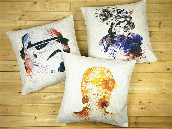 Star Wars pillow cover watercolor Black Warrior storm troops storm Commandos throw pillow case Wholesale & Star Wars pillow cover watercolor Black Warrior storm troops ... pillowsntoast.com