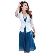 Nice Nice Fashion women's Suit Jacket Veste Femme 7/9 Sleeve Top Size Blaser  Feminino Suit Jacket Women Blazers And Jackets