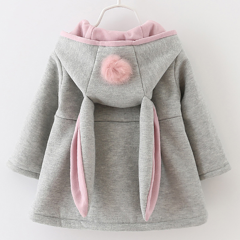 2018 New Girls Hoodies Children Casual Sports Windbreaker Baby Kids Sweatshirts Winter Cotton Thick Outwear Jackets For Girls