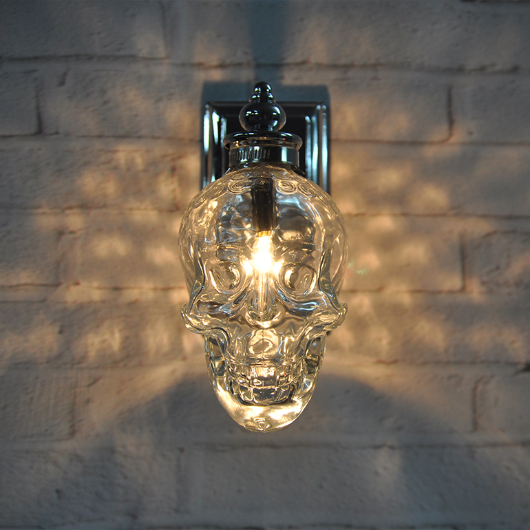 Contemporary Wall Lights Lounge : Loft Wall Lamp Creatiave Bar Wall Light Modern Minimalist Outdoor Retro Industrial Glass Skull ...