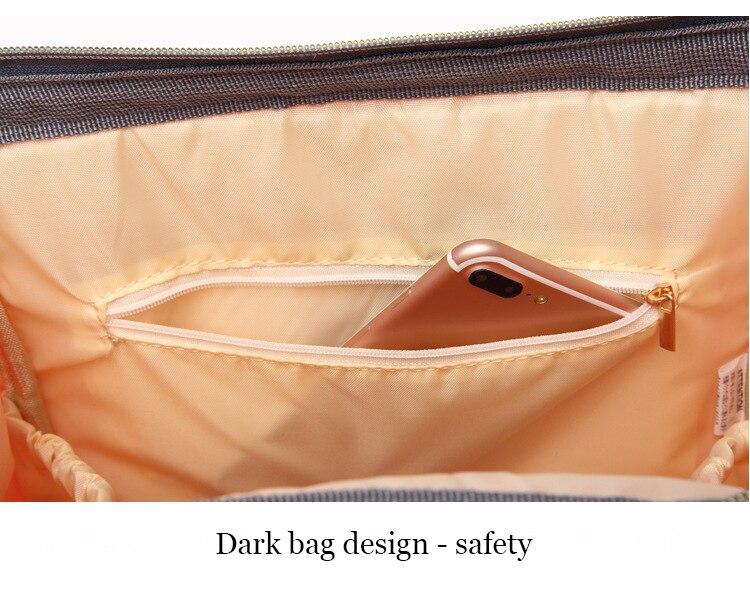 HTB1fg.Zk8DH8KJjSszcq6zDTFXar Maternity Bag Waterproof Diaper Backpack for Mom Nappy Bags Large Capacity Baby Bag Travel Mummy bag Designer Nursing Bag