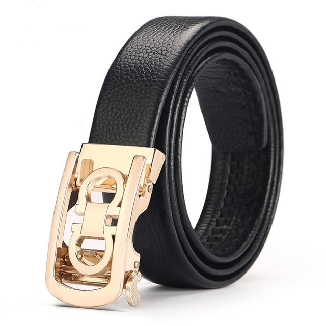 488aa3c7efba GG Belts For Men 100% Cow Genuine Leather Mens Belt Male Automatic Alloy  Buckle Strap Cinturones Hombre Original