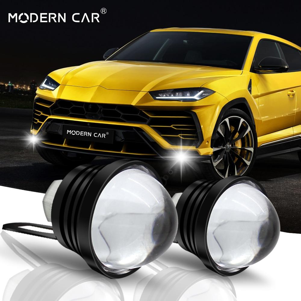 MODERN CAR Led Light Fog Lamp Daytime Running Lights Drl External Fish Led Eagle Eye Automobile Strobe Flash Lamp With Bracket
