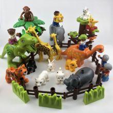 Legoing Duplo animales Zoo oveja, mono perro cerveza conejo pájaro Juguetes de bloques de construcción para niños Compatible Duplo Legoing figuras
