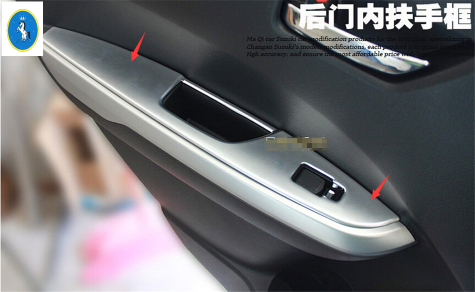 Interior Door Window Lift Regulator Cover Trim  For Mazda 2 Demio 2015 2016