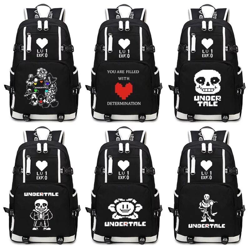 Undertale Flowey Sans Laptop Backpack Shoulders Travel Bags Cosplay Men Women Student School Package Backpacks