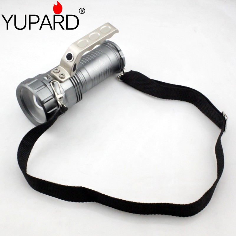yupard XM-L2 LED flashlight T6 LED zoomable torch spotlight lantern focus searchlight rechargeable 18650 portable light cree xm l2 flashlight 5000lm adjustable zoomable led xm l2 flashlight lamp light torch lantern rechargeable 18650 2chargers z30