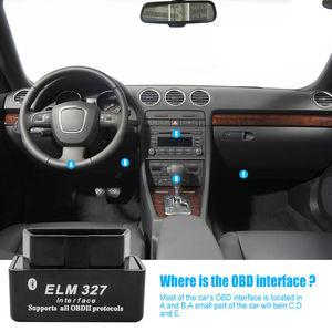 Image 2 - ミニELM327 OBD2 ii車のbluetoothスキャナー車診断ツールのandroidトルク自動dtcスキャンツール