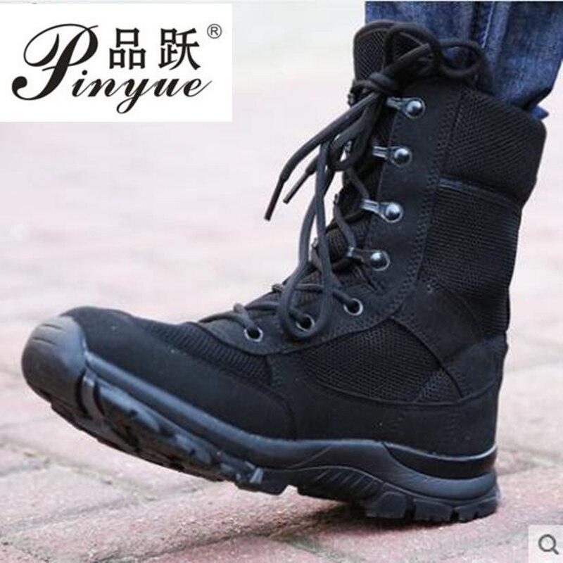 Ultraléger respirant hommes bottes de Combat tactiques printemps automne formation en plein air randonnée chasse désert Jungle marche cheville chaussures