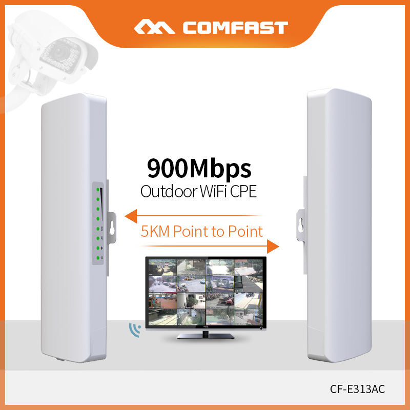 COMFAST 5KM Point To Point Long Range Outdoor Mini Wireless AP Bridge 900Mbps 5.8G WIFI CPE WI-FI Antenna Nanostation CF-E313AC