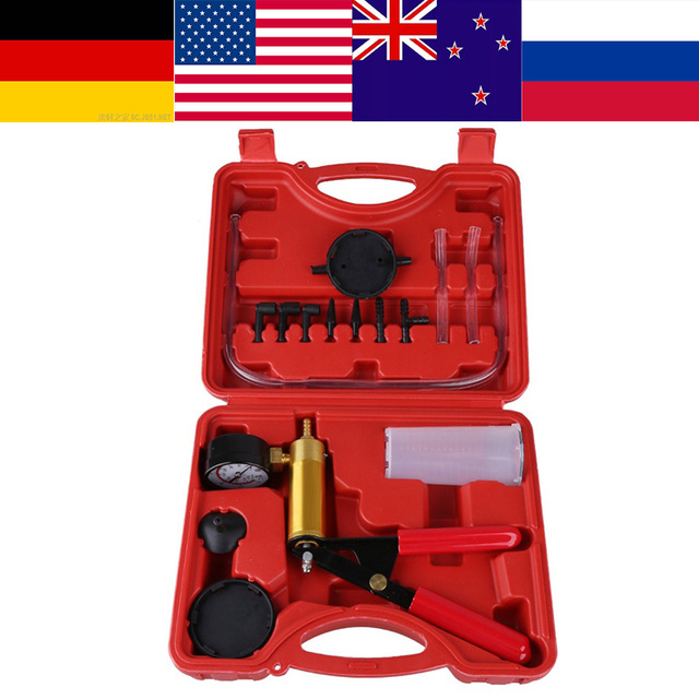 VGEBY Oversea Hand Held Bleeder Tester Vacuum Motorbike Kit Set Car Accessories pump