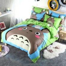 100% Cotton Totoro Cartoon Kids Bedding Set