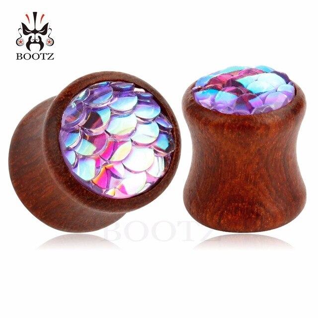 Купить пирсинг kubooz заглушки для ушей деревянные туннели тела продажа