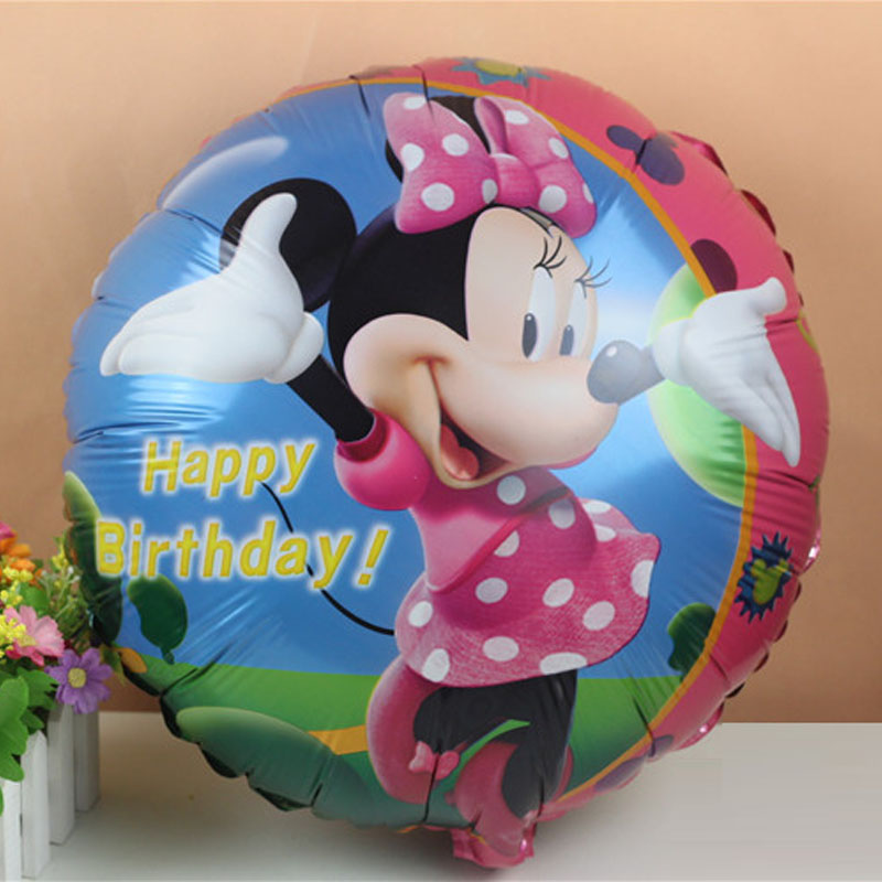 ᓂ18 pulgadas globo Minnie juguetes inflable helio niños partido ...