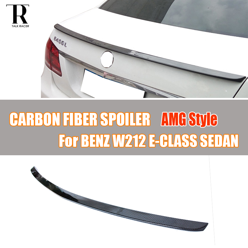 W212 AMG Style Carbon Fiber Rear Roof Trunk Spoiler for Mercedes Benz W212 E200 E260 E300 E350 E400 E63 AMG 2010 - 2016 цена