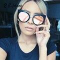 2017 cat eye vintage mujeres oro rosa cateye gafas de sol femeninas gafas de sol de espejo estilo moda verano uv400 gafas con estilo