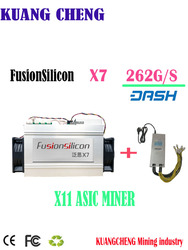 Asic Dash FusionSilicon X7 262G Dash mijnwerker X11 Dash coin mijnbouw Beter Dan bitmain D5 D3 S9 Z9 Mini baikal BK-X X10 BK-G28
