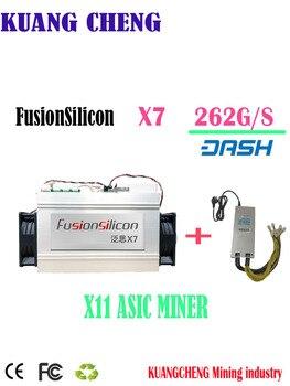Asic Dash FusionSilicon X7  262G Dash miner X11 Dash coin mining  Better Than bitmain D5 D3 S9 Z9 Mini Baikal BK-X X10 BK-G28