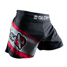 MMA Fighting Glory red and black sports fitness breathable Tiger Muay Thai boxing shorts boxing clothing short muay thai mma
