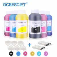 250 ml/Bottle Inchiostro Eco-Solvente Per Epson L210 L355 L366 L382 L385 L420 L800 L805 L1800 R2000 r3000 1390 1400 1500 W Stampante Inchiostro