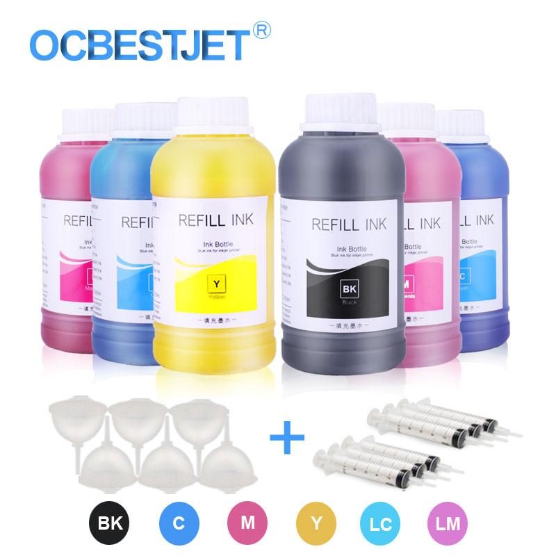 250 ml/Bottle Tinta Eco-Solvente Para Epson L210 L355 L366 L382 L385 L420 L800 L805 L1800 R2000 r3000 1390 1400 1500 W Impressora De Tinta