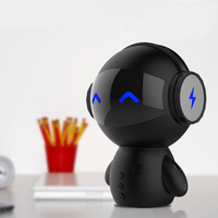 Portable Cartoon Robot Mini Bluetooth Speaker Bluetooth Wireless Innovative Bank Receiver Bank Speaker Stereo Music Player