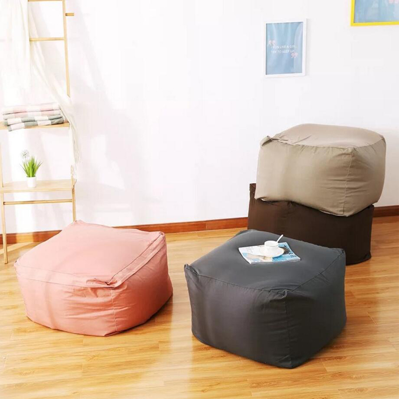 lazy sofa Waterproof Stuffed Animal Storage/Toy Bean Bag Solid Color Oxford Chair Cover Large Beanbag(filling is not included)