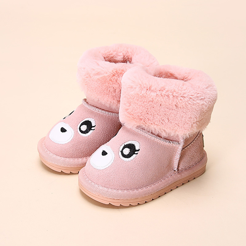 Lovely Bear girls winter shoes with fur font b snow b font font b boots b