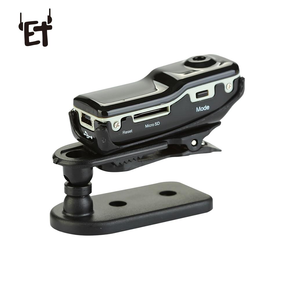 ET MD80 Mini Camera HD DV Camcorder DVR Video Audio Recorder Support 16GB TF Card Camera Kit Sports Helmet Bike Motorbike Webcam