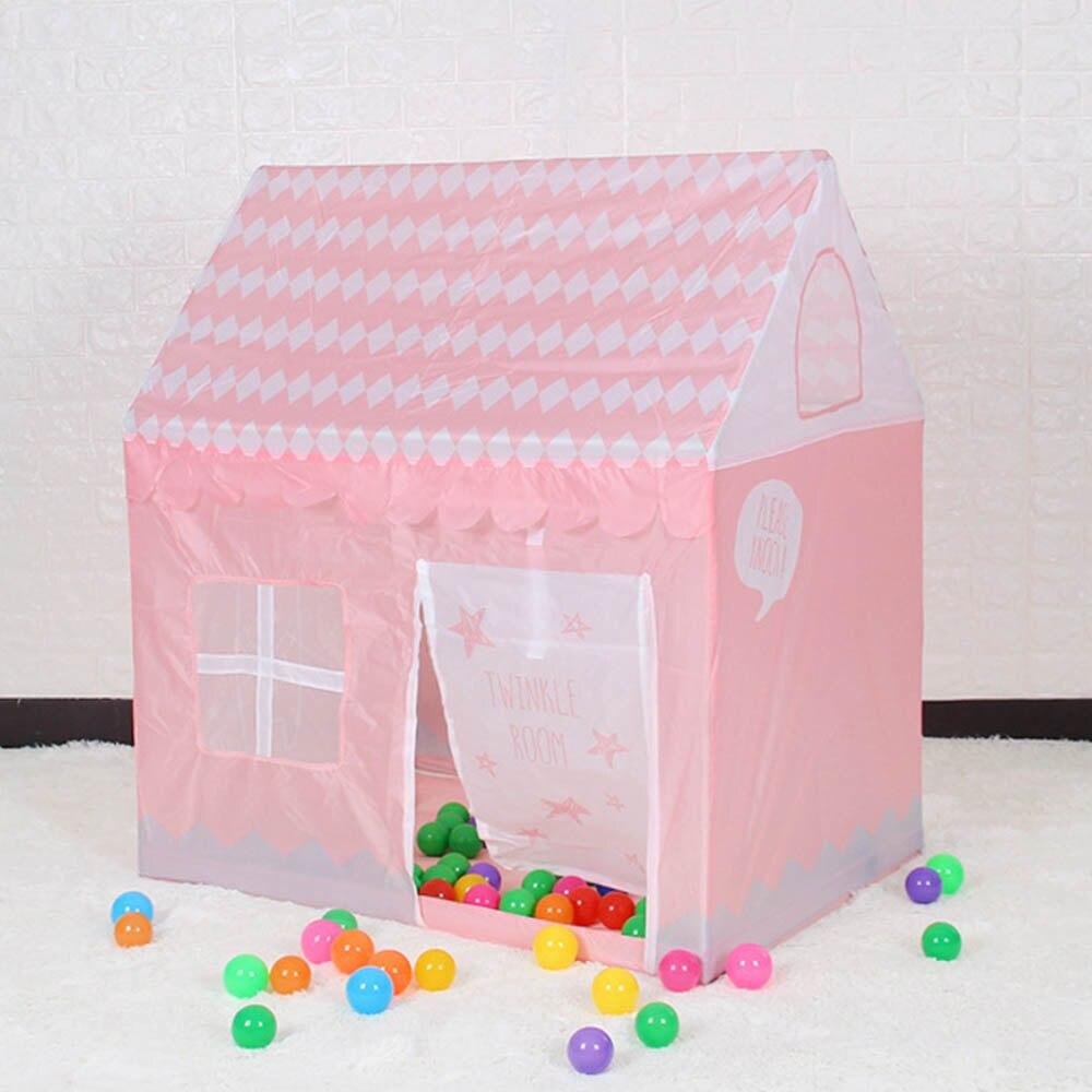 Tente de jeux pour enfants jouet piscine à balles château de princesse fille maison de jeux enfants petite maison pliante bébé plage tente pour enfant rose