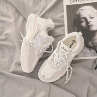 INS Vintage dad Sneakers Women Shoes High Quality Breathable Outdoor Sneakers Black White Shoe Casual Girls Shoes Women