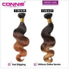Ombre Brazilian Virgin Hair Body Wave Human Hair Weave 7A Brazilian Body Wave 1Bundle Unprocessed Virgin Hair Extensions
