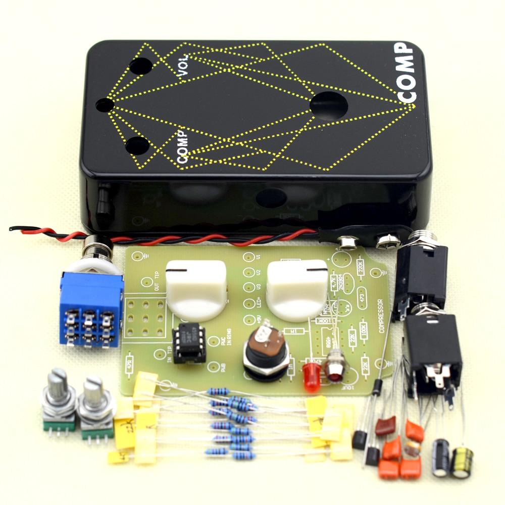 Набор педалей для гитары, компрессор DIY с алюминиевым корпусом для литья под давлением 1590B