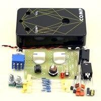 DIY Electric Compressor Stomp Pedal Guitar Effect Pedal True Bypass Guitar Effect Drilling Aluminum Box Kit