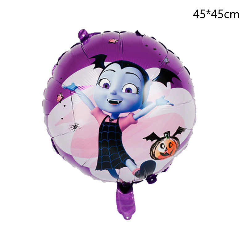 5pcs 3D Vampire Girl Pentagram Witch Helium Foil Balloons Children Toys Globos Halloween Party vampirina Balloon Decor