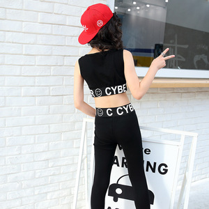 Image 4 - ילדה בגדי ג אז היפ הופ ריקוד תחרות תלבושות קיץ ילדי חולצות + מכנסיים 2 pcs ספורט חליפת בגדי נערה ריקוד ללבוש