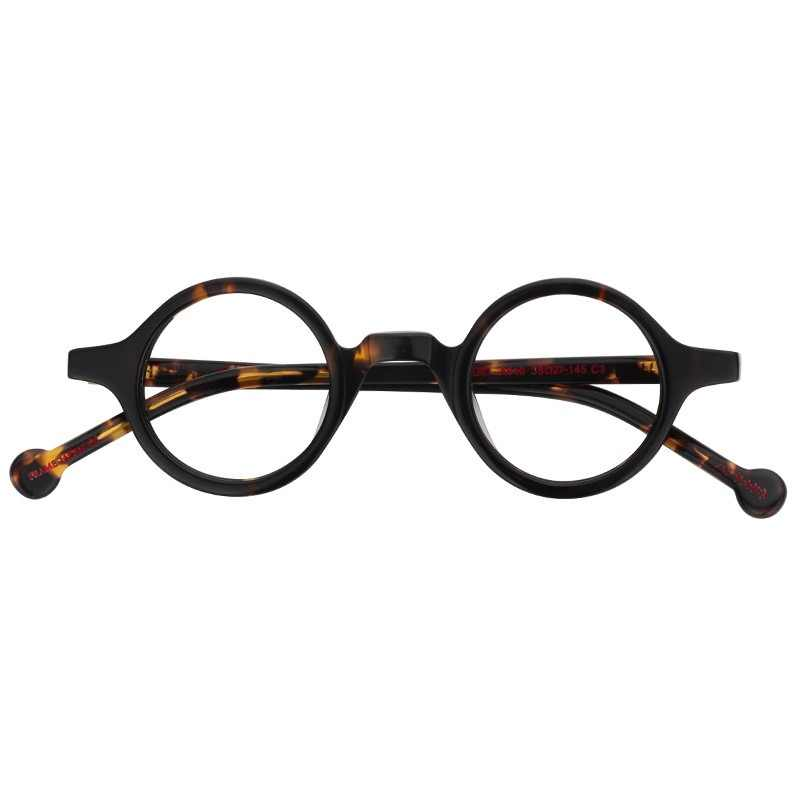 89ee5510bcf Acetate Round Fashion Glasses Men Harry Retro Glasses Frames Fake Glasses  with Clear Lens Women Optical