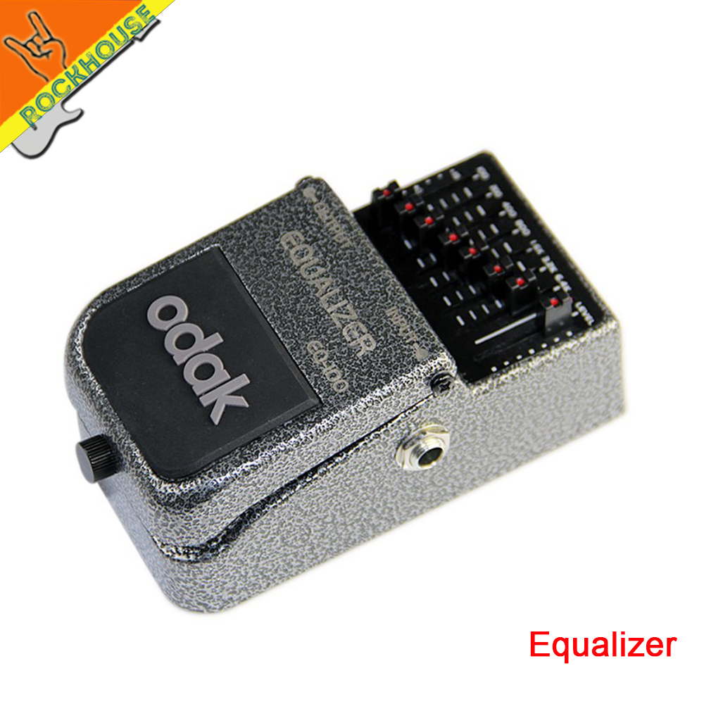 Odak 7 Bands EQ Equalizer guitar effect padal EQ guitarra Broad range of frequency 100Hz to 6.4kHz 30dB adjustable free shipping педаль compressor и equalizer strymon ob 1