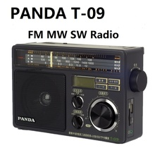 Panda T 09 rádio fm mw sw u disco/tf cartão mp3 player fm/rádio de ondas curtas médias três banda
