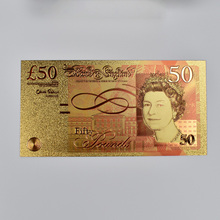 50 Pound Gold Foil Banknotes  Decoration Gift