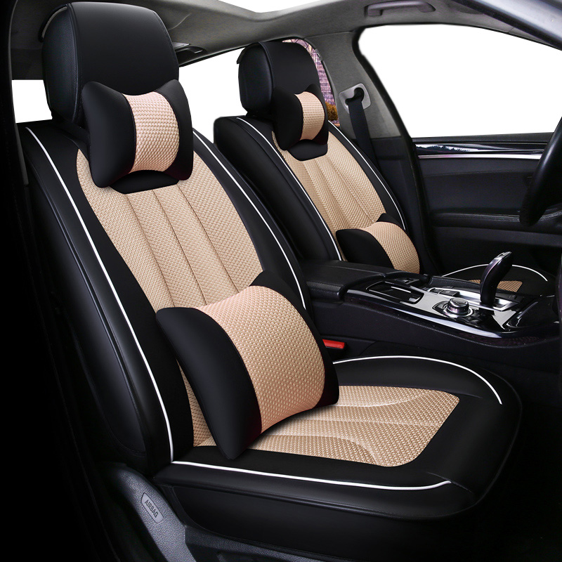 Deluxe Automobiles Seat Covers ( front & back ) 5 seat cushions for Skoda Rapid Fabia Superb Octavia Yeti automobiles styling