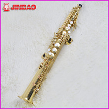Original jinbao JBSST-400 High-pitch Soprano Saxophone One Piece Straight B Flat Bb Saxe Sax Top Musical Instrument